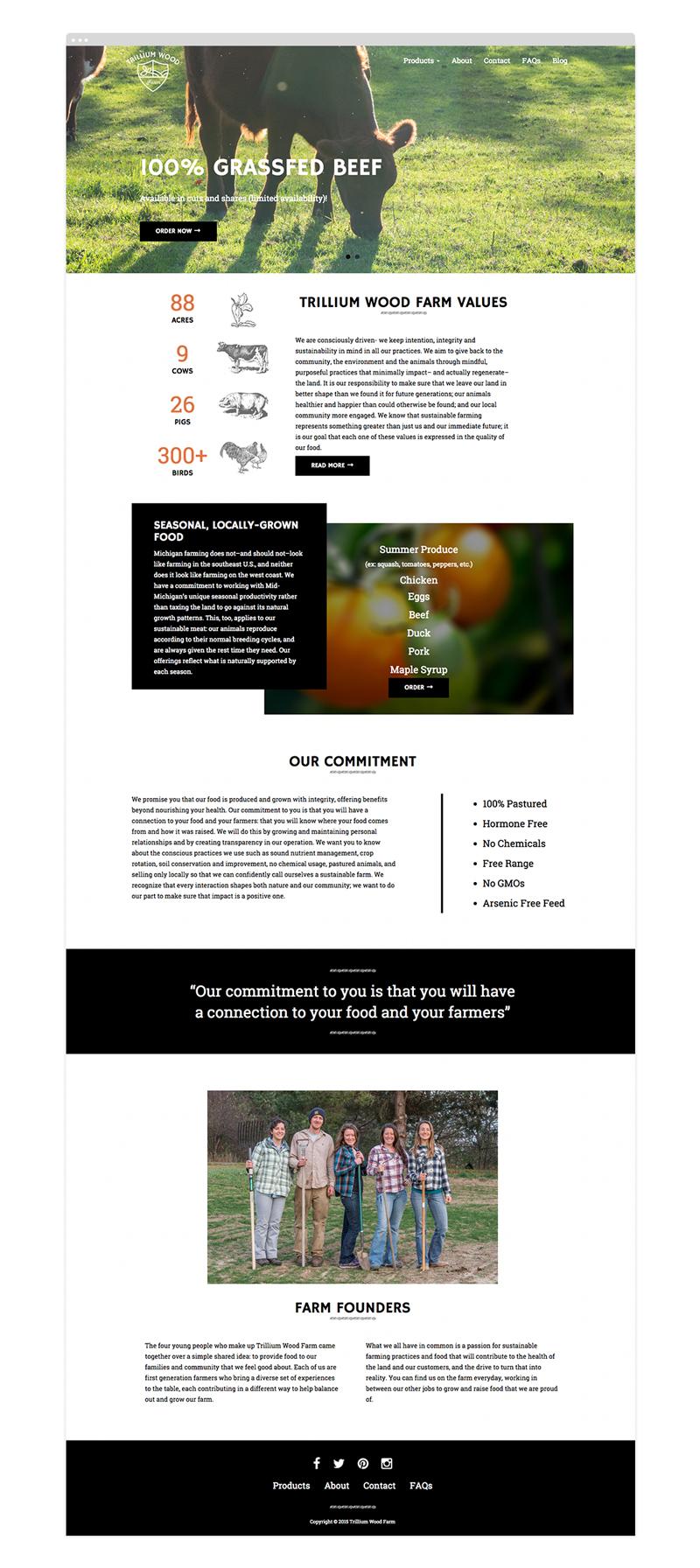 Trillium_wood_farm_web_design